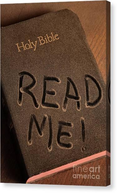 Read Me Bible Canvas Print