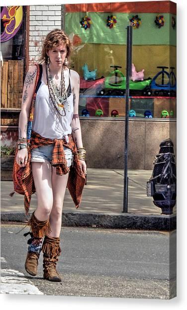 Redhead Crossing Main Street Canvas Print
