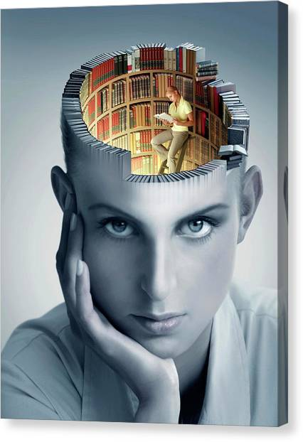 Canvas Print - Reading And Memory by Smetek/science Photo Library