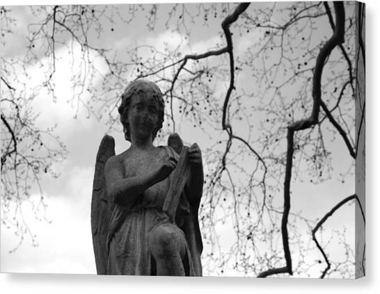 Seraphim Angel Canvas Print - Reading Angel by Jennifer Ancker