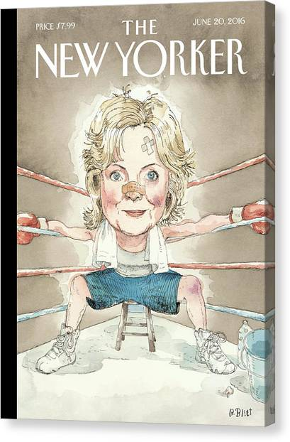 Boxing Canvas Print - Ready For A Fight by Barry Blitt