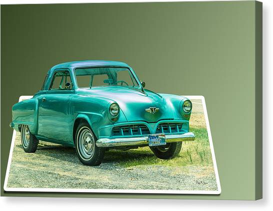 Classic - Car - Studebaker - Ready For A Spin? Canvas Print by Barry Jones