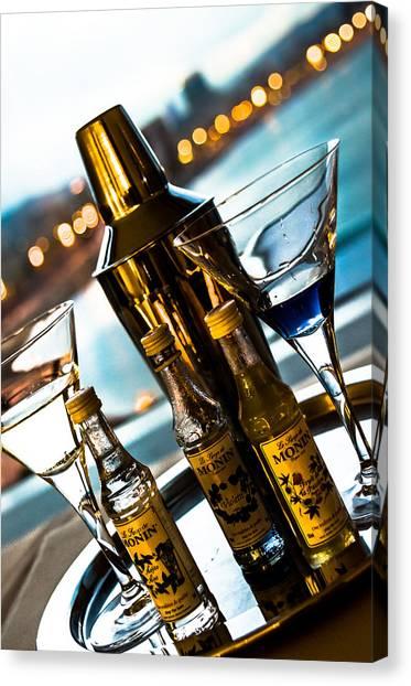 Martini Canvas Print - Ready For Drinks by Sotiris Filippou