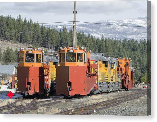 Canvas Print featuring the photograph Ready For More Snow At Donner Pass by Jim Thompson