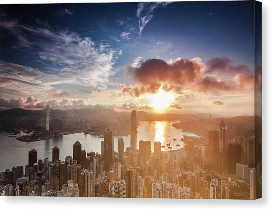 Ready For Summer In Hong Kong Canvas Print