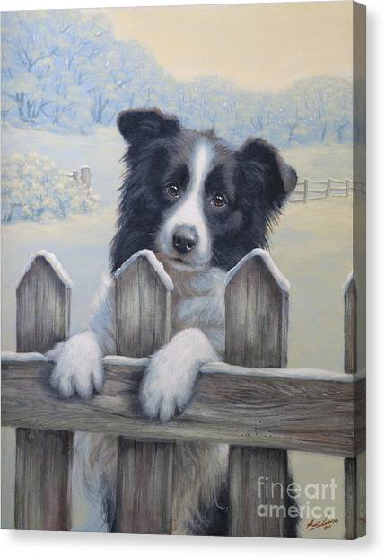 Border Collies Canvas Print - Ready For Work by John Silver