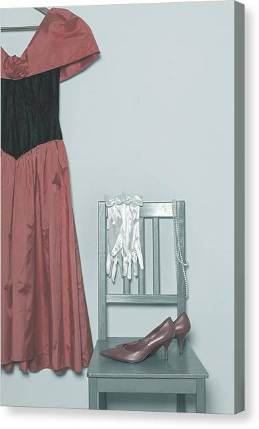 Coat Hanger Canvas Print - Ready To Go Out by Joana Kruse