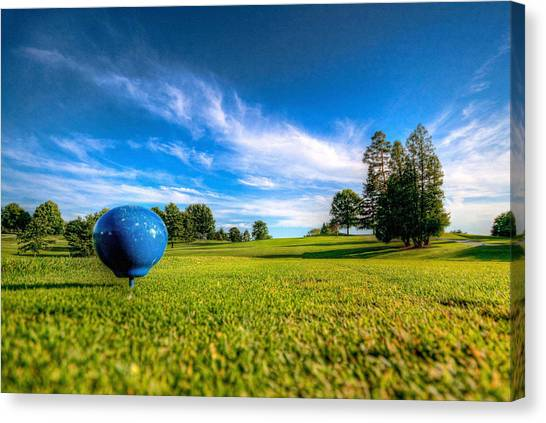 Ready To Tee Off Canvas Print