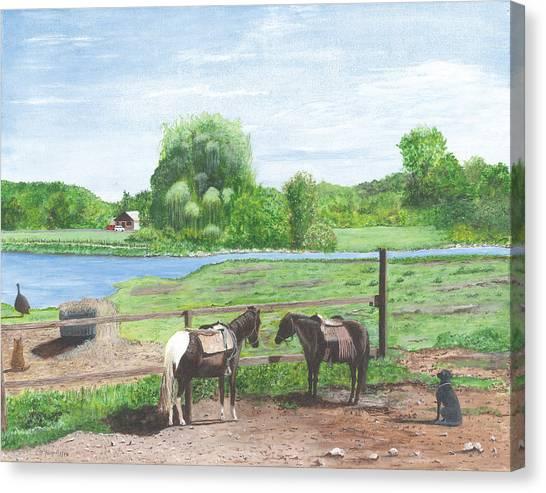 Real Americana Sullivan Cty Ny Canvas Print