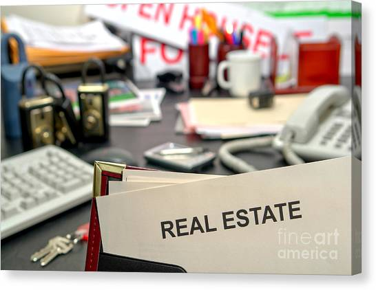 Binders Canvas Print - Real Estate by Olivier Le Queinec