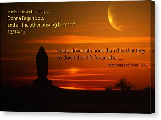 Canvas Print - Real Life Heros by Larry Robinson