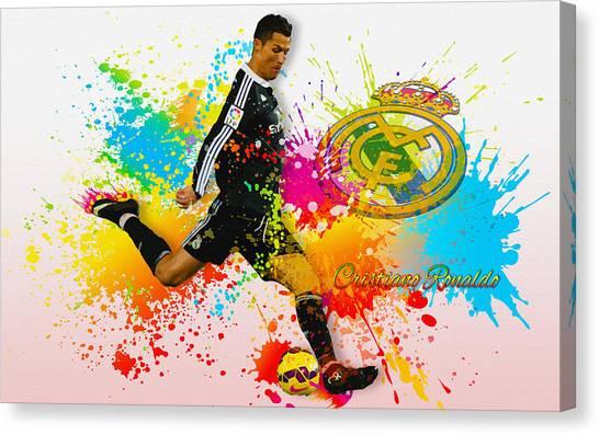 Real Madrid - Portuguese Forward Cristiano Ronaldo Canvas Print
