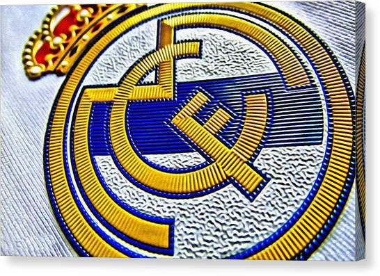Real Madrid Canvas Print - Real Madrid Poster Art by Florian Rodarte