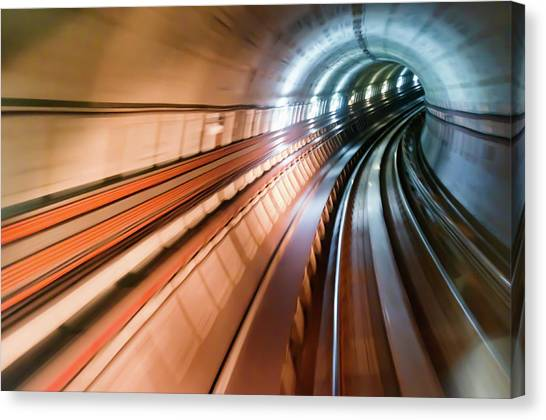 Real Tunnel With High Speed Canvas Print by Fredfroese