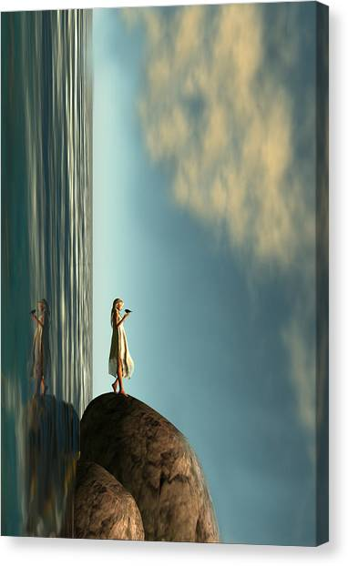 Surreal Digital Art Canvas Print - Reality Is Frequently Inaccurate  by Whiskey Monday