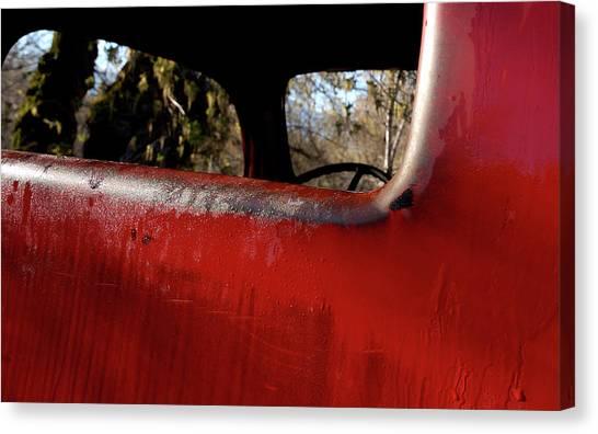 Rear View - Vintage Dodge Truck Canvas Print