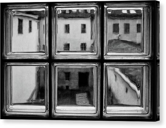 Window Canvas Print - Rear Window by Roswitha Schleicher-schwarz