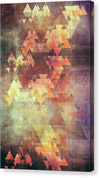 Triangles Canvas Print - Rearrange The Sky by VessDSign