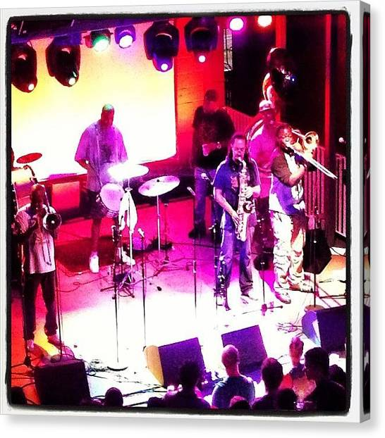 Rebirth Canvas Print - #rebirth Brass Band In #atx @trimbleface by Krista Dittmar