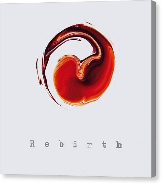 Rebirth Canvas Print - #rebirth by Yoyo Ijonk