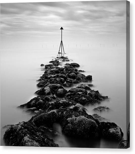 Wind Farms Canvas Print - Receding Tide by Dave Bowman