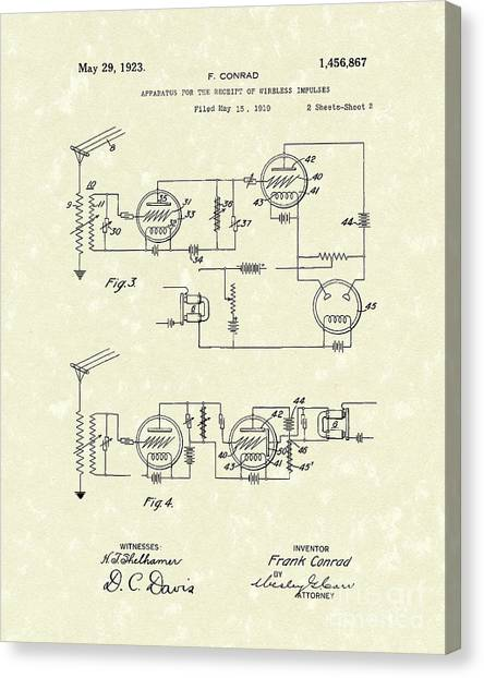 Receiver 1923 Patent Art Canvas Print