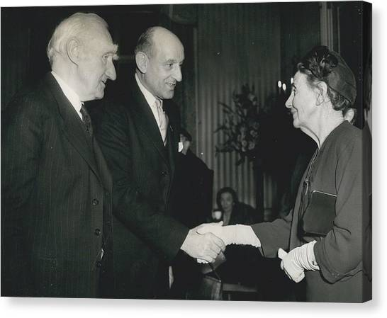 Reception To Mark Award Of Nobel Prize Canvas Print by Retro Images Archive