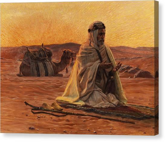 Islam Canvas Print - Recitation Of The Maghrib by Otto Pilny