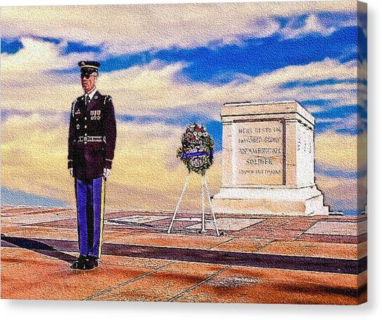 Recitation Of The Requirements Of Honor Guards Canvas Print