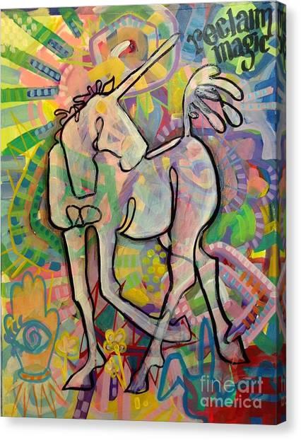 Unicorns Canvas Print - Reclaim Magic by Kimberly Santini