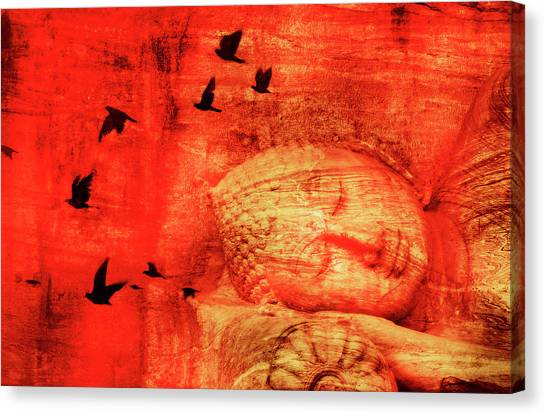Reclining Buddha Canvas Print by Grant Faint