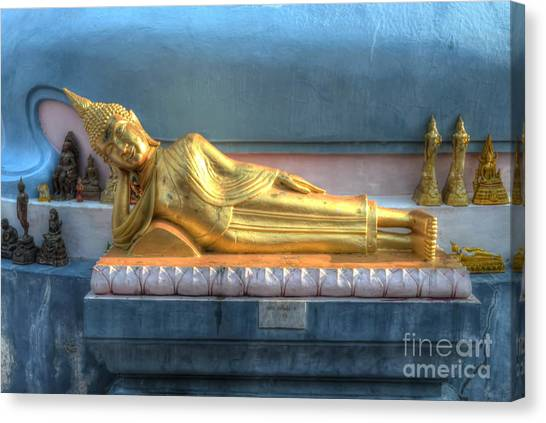 reclining Buddha Canvas Print