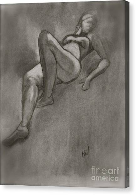 Reclining Woman Canvas Print