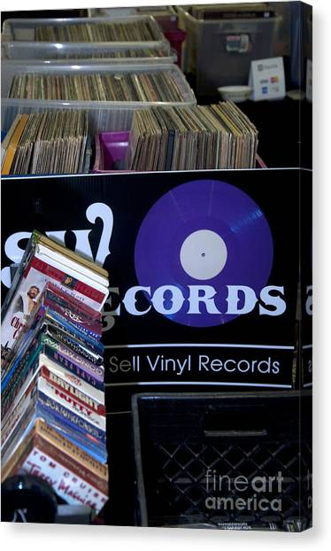 Record More Canvas Print by Affini Woodley