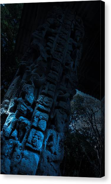 Recorded In Stone Canvas Print