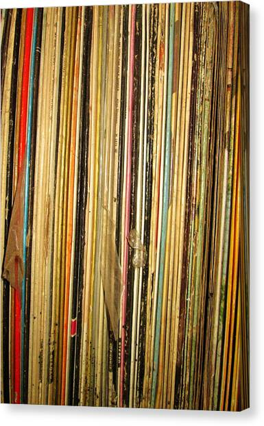 Records Canvas Print