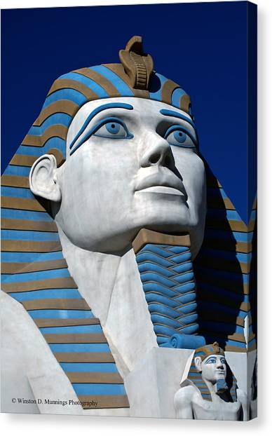 Recreation - Great Sphinx Of Giza Canvas Print