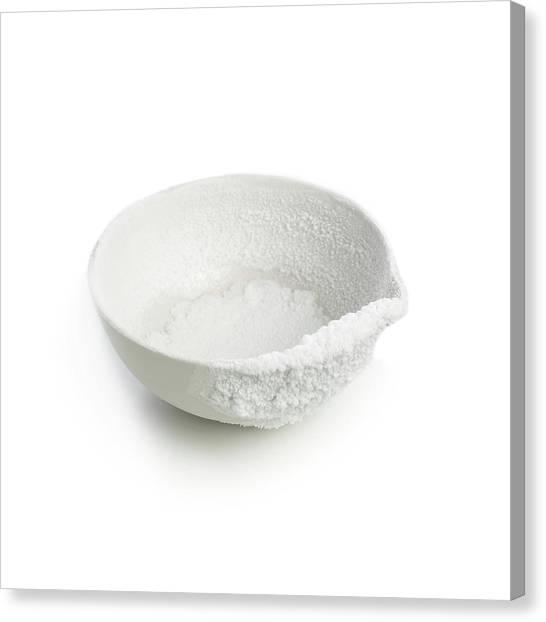 Recrystallised Rock Salt Canvas Print by Science Photo Library