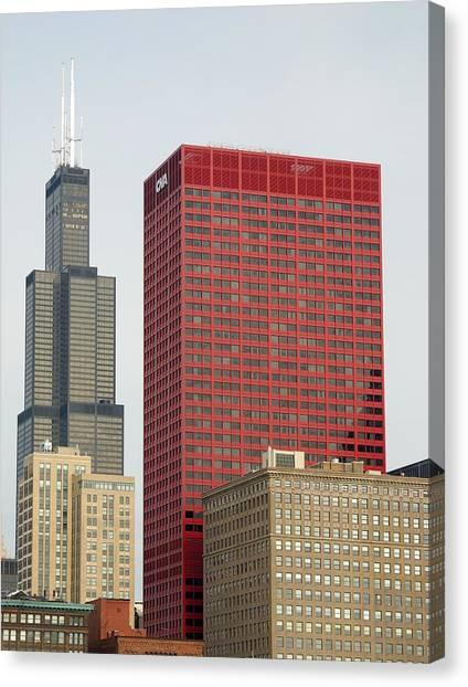Precisionism Canvas Print - Rectangular Chicago by Steven Richman