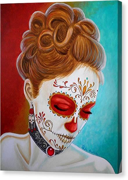 Recuerdos De Mi Amor Escarlata Canvas Print