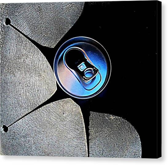 Recycled Can In A Recycle Bin Canvas Print