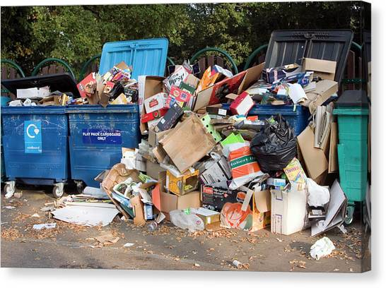 Recycling Site Canvas Print by David Taylor/science Photo Library