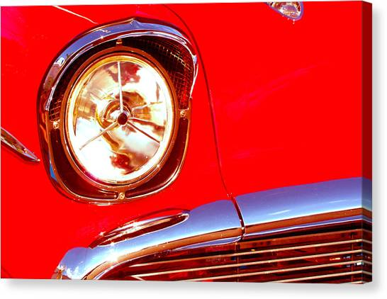 Red 57 Chevy Close Up Canvas Print
