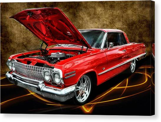 Red '63 Impala Canvas Print