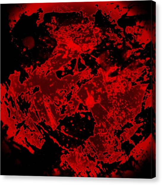 Color Contrast Canvas Print - Red Abstract by Jason Michael Roust