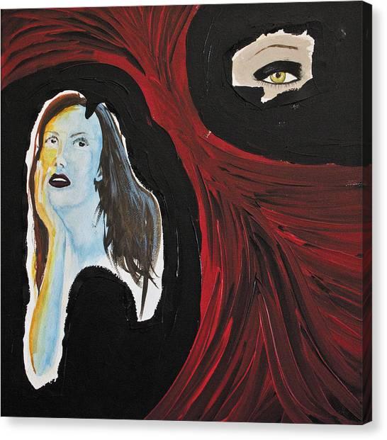 Pre-modern Art Canvas Print - Red Alert Song by Anna Mroczkowski