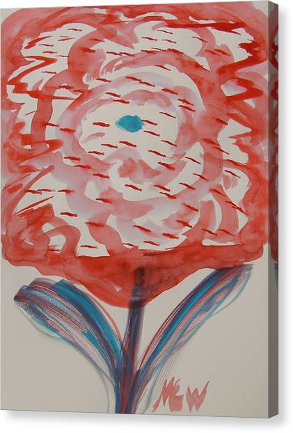 Red And Baby Blue Canvas Print