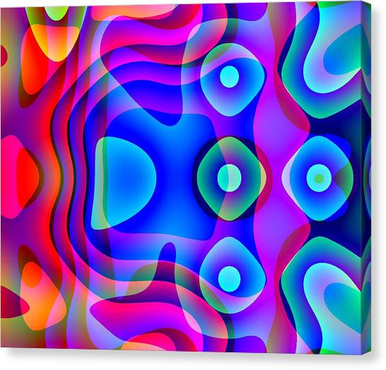 Red And Blue Canvas Print by Charles Ragsdale