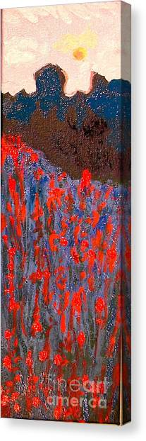 Red And Blue Washington State Canvas Print