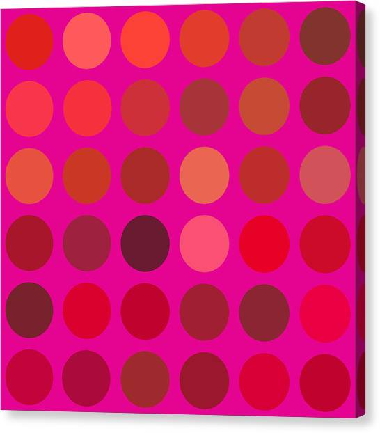 Red And Lilac Canvas Print